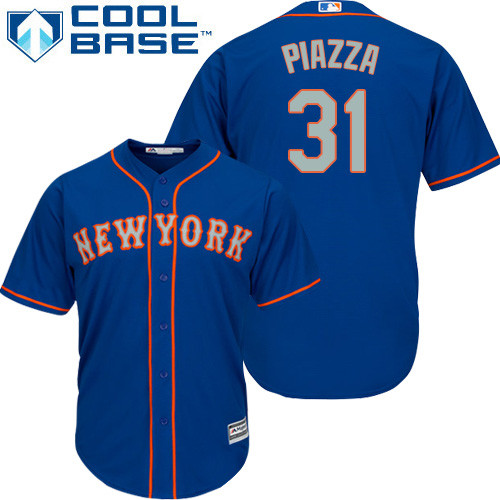 New York Mets Mike Piazza Men's Authentic Royal Blue Alternate Road Cool Base Jersey
