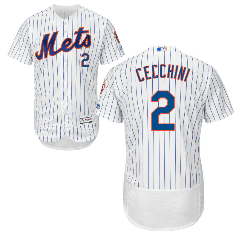 New York Mets Gavin Cecchini Youth Authentic White Home Flex Base Jersey