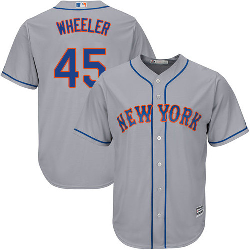 New York Mets Zack Wheeler Youth Authentic Gray Road Cool Base Jersey