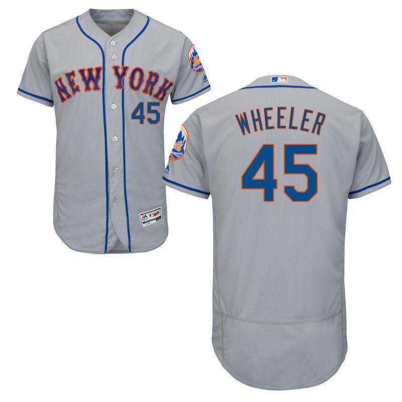 New York Mets Zack Wheeler Youth Authentic Gray Road Flex Base Jersey