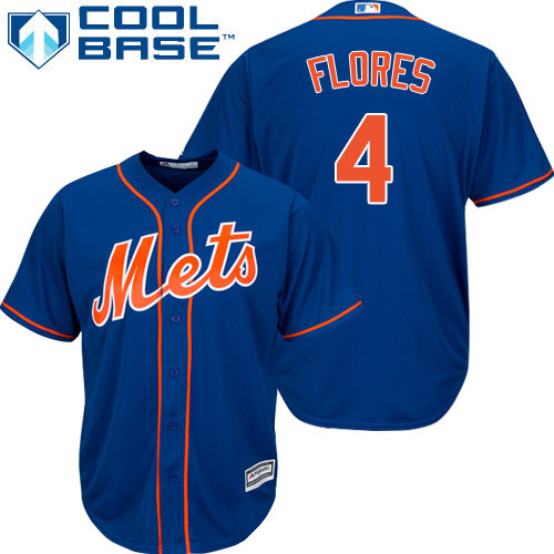 New York Mets Wilmer Flores Youth Authentic Royal Blue Alternate Home Cool Base Jersey