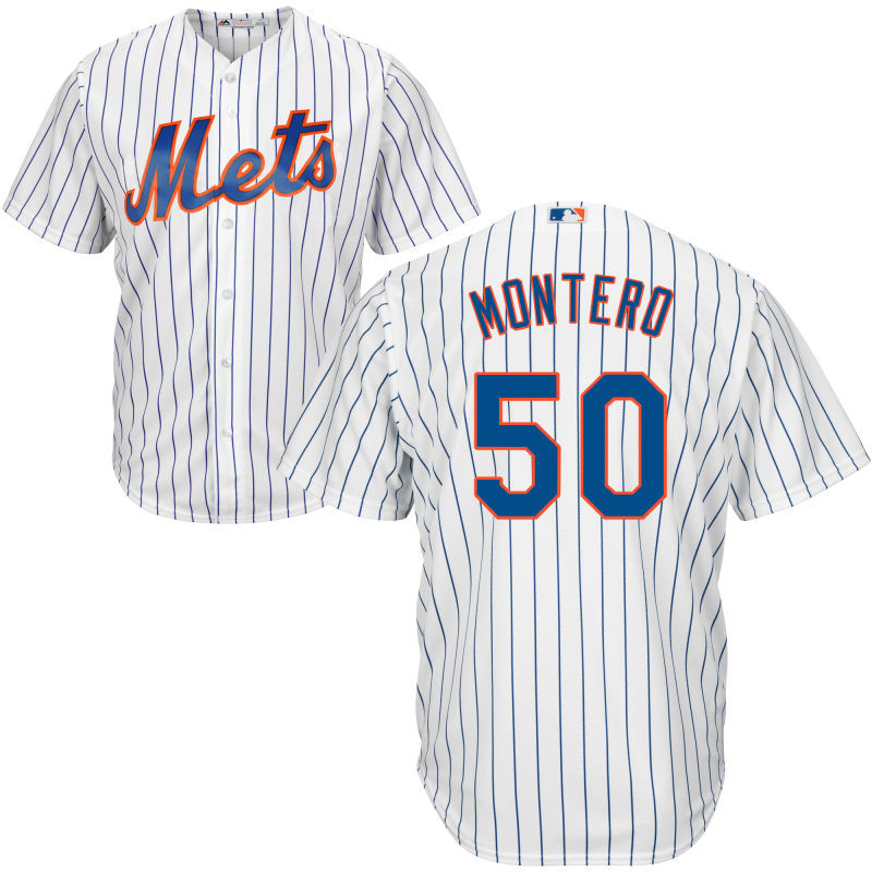 New York Mets Rafael Montero Youth Authentic White Home Cool Base Jersey