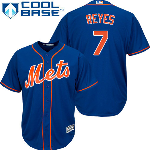 New York Mets Jose Reyes Youth Royal Blue Alternate Home Cool Base Jersey